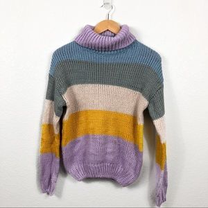 Multi Color Chunky Sweater